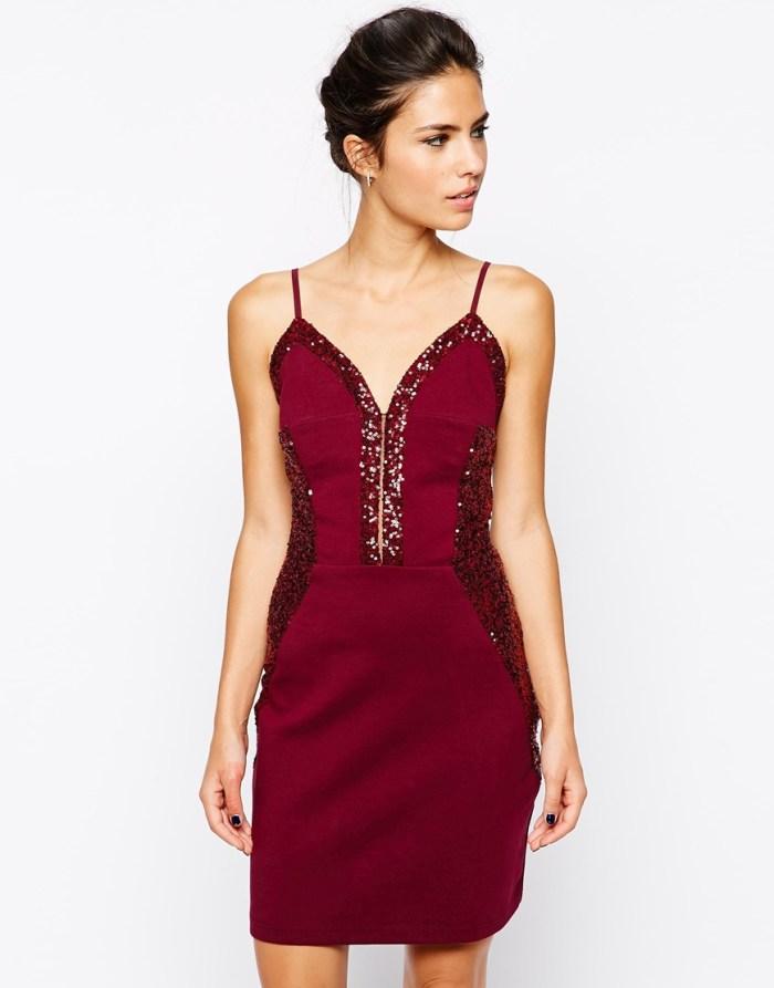 Liquorish Cami Dress Sequin Panels