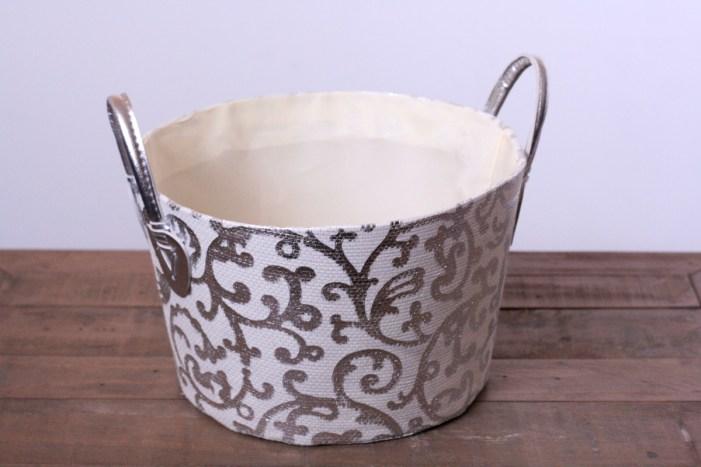 Damask Canvas Bucket from TJ Maxx