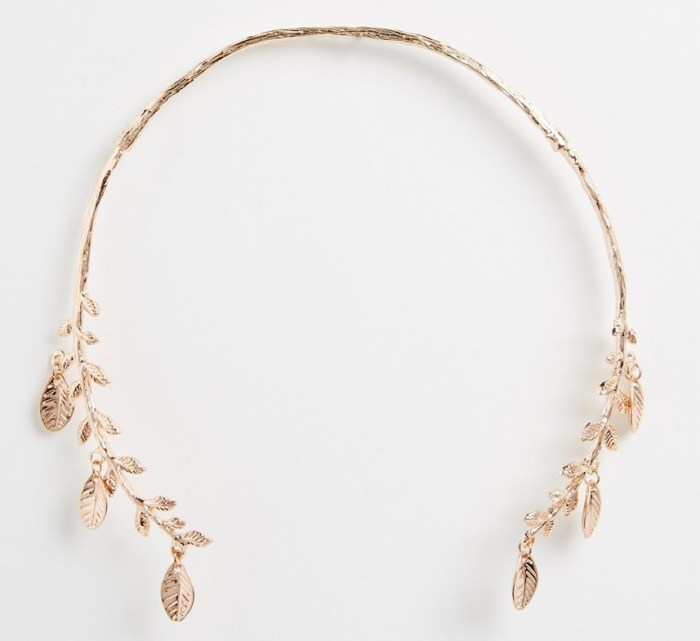 ASOS Leaf Open Collar Necklace