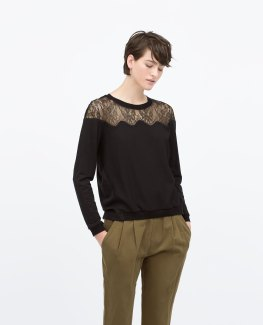 Lace Shoulder Top, $29.95 (was $59.90)