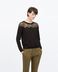 Lace Shoulder Top, $29.95 (was $59.90)