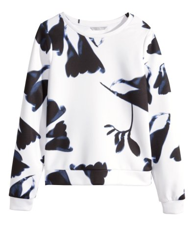H&M Patterned Floral Sweatshirt, $34.95