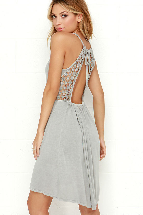 Lace Back Tie Backless Summer Dress