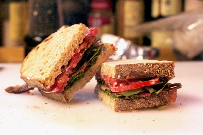 BLT with Organic Ingredients from Grocery Outlet