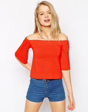 ASOS Collection Off Shoulder Structured Knit, $32 (was $54)