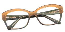 Brown and Green Glasses