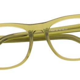 Clear Green Wayfarer Glasses