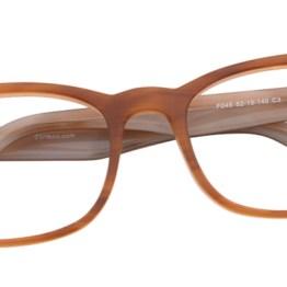 Light Brown Diamond Wayfarer Glasses