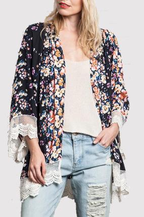 Umgee Floral Print Kimono, $40