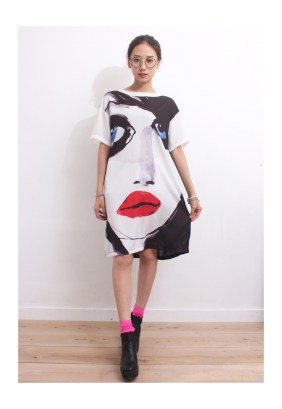 Drive Store Abstract Portrait Dress, $57.33