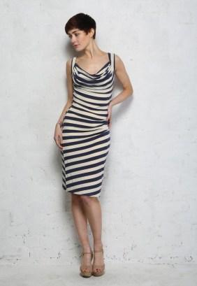 Eucalyptus Navy Striped Dress, $60.35