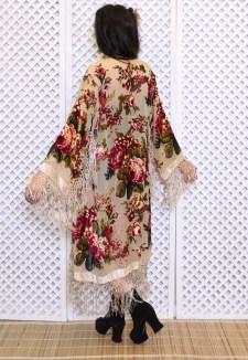 Native Haze Velvet Kimono Jacket, $90.51