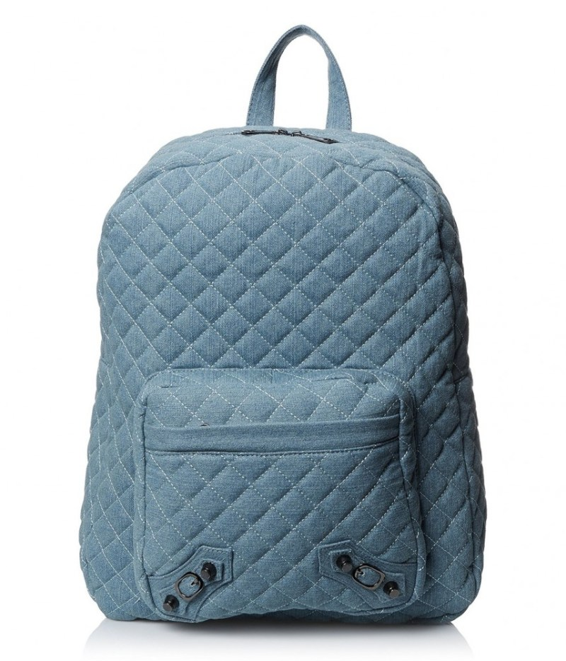 Nila Anthony Blue Quilted Backpack