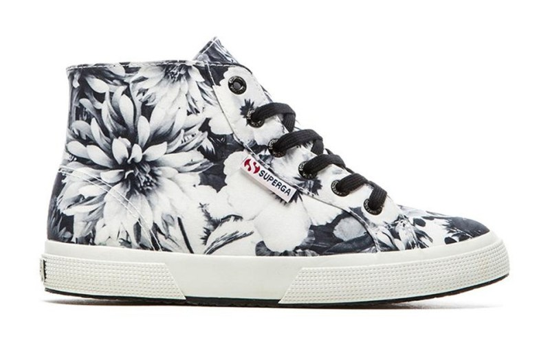 Superga Photo Floral Hi Top Sneakers