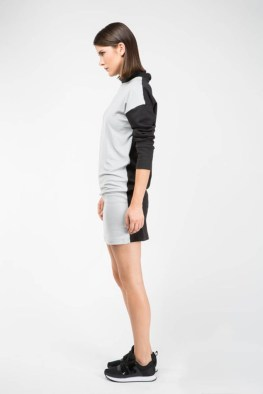 3-14 Gray Front Dress