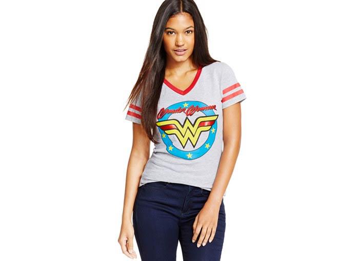 BioWorld Wonder Woman Hockey Jersey Tee