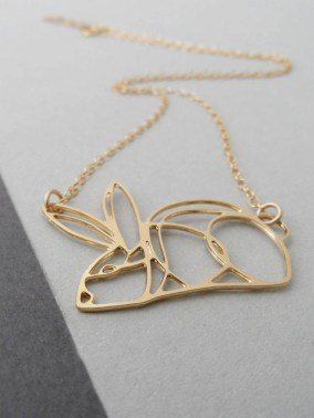 Bonny Rabbit Contour Rabbit Necklace