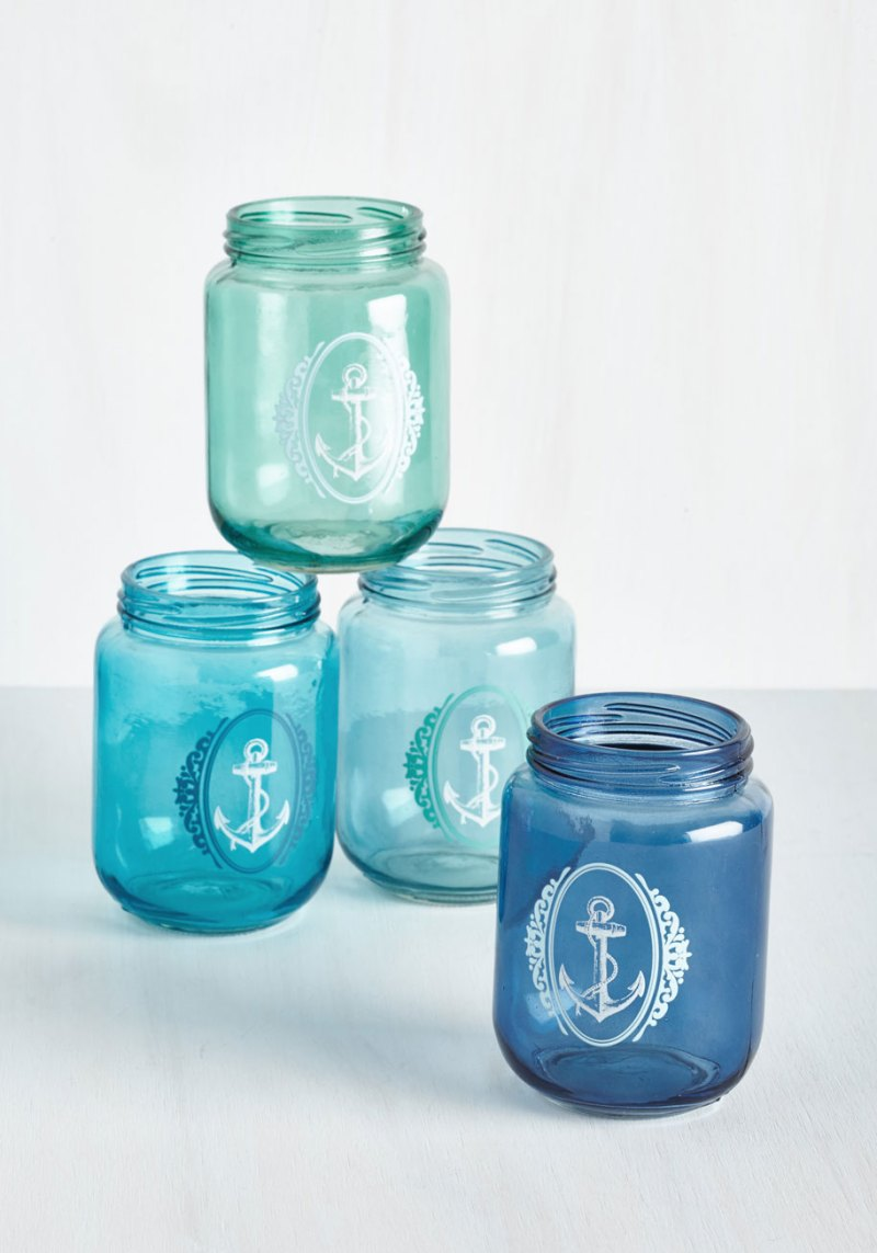 Maritime Anchor Jar Glasses