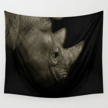 Rhino Tapestry by Sophie Makes Fabrics on Etsy, $69.77