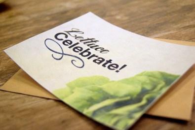 FreshPaper Gift Cards - Lettuce Celebrate