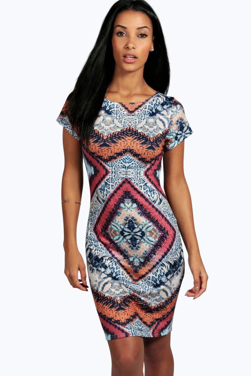 Boohoo Aimee Cap Sleeve Midi Dress