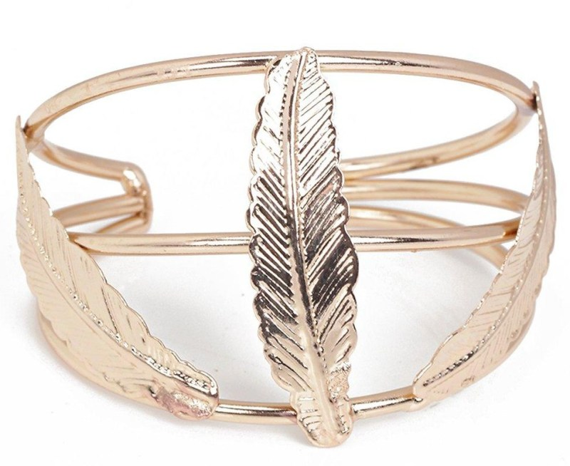 Boohoo Rose Gold Feather Cuff