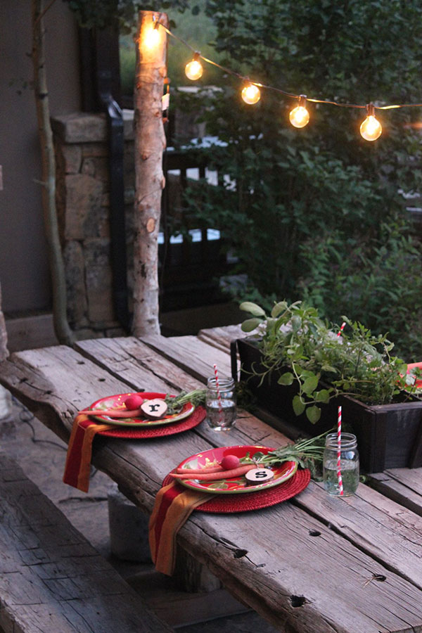 J Sorelle Outdoor Lit Area via Home Depot