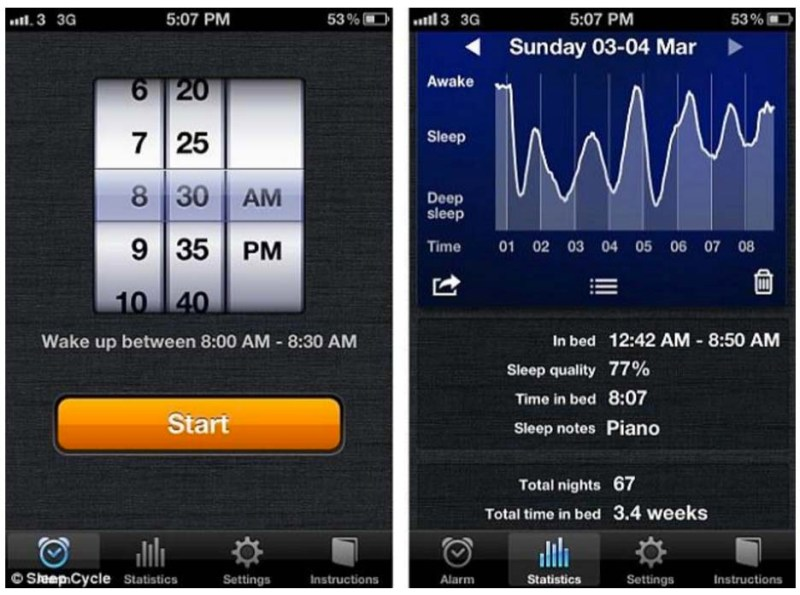 App - Sleep Cycle Tracker