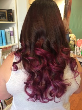 Burgundy Ombre Mermaid Hair