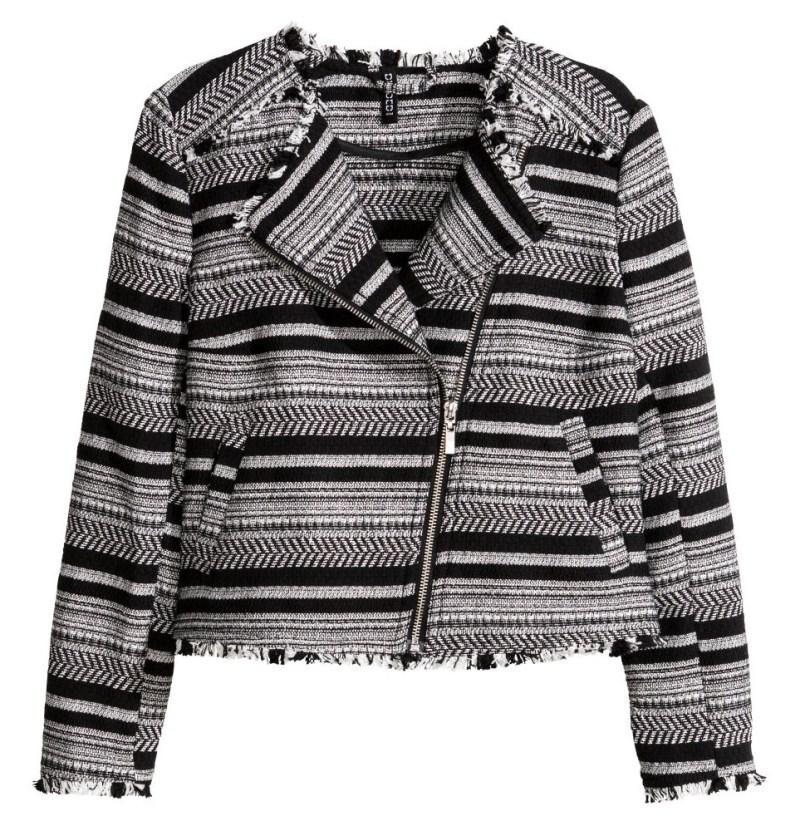H&M Jacquard Biker Jacket