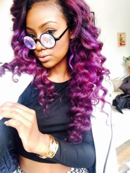 Justine Skye Purple Mermaid Hair