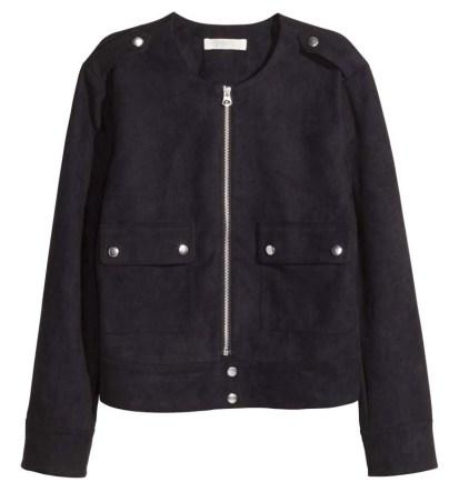 HM Faux Suede Black Jacket