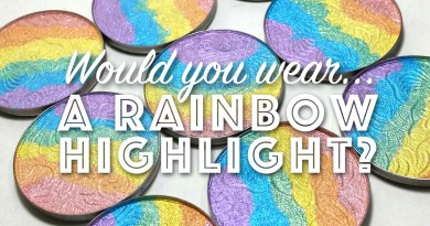 rainbow highlighter bitter lace beauty trend
