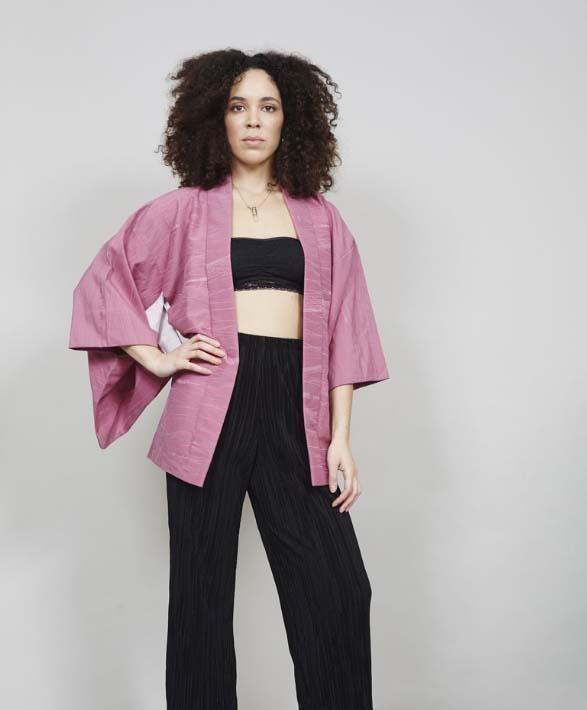 Bralette and Kimono Coat
