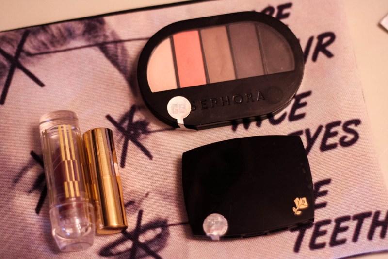 used cosmetics sephora eyeshadow bareminerals shu uemura lipsticks