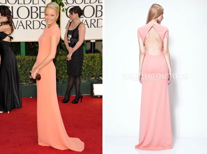 emma-stone-red-carpet-dress-golden-globes-short-sleeve-jewel-neck-pink-evening-gown