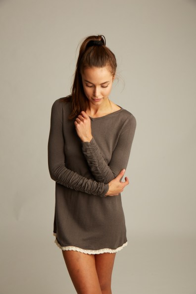 The Lemon Collection Brown Cashmere Tunic
