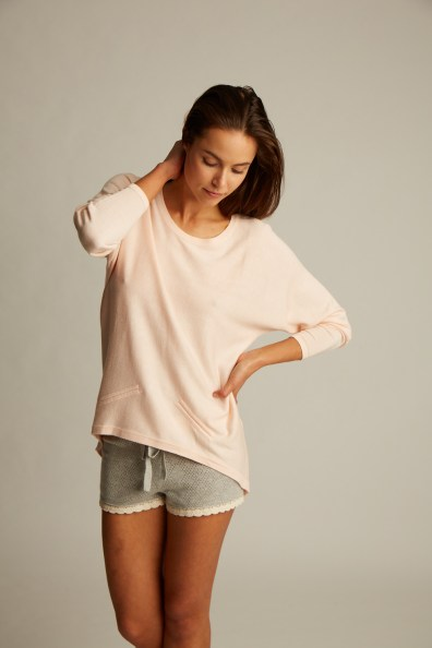 The Lemon Collection Pink Cashmere Top