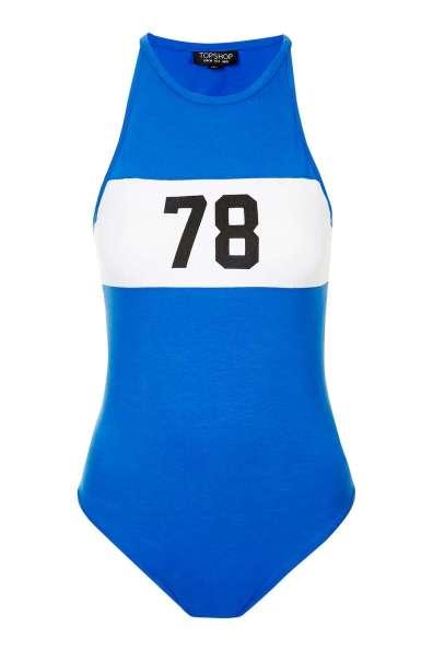 Topshop Colour Block 78 Cobalt Blue Bodysuit