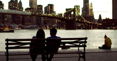 Romane Couple Bench Bridge River Love