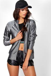 Boohoo Tall Coralie Metallic Bomber Jacket