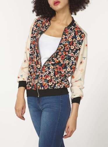 Dorothy Perkins Floral Bomber Jacket 2