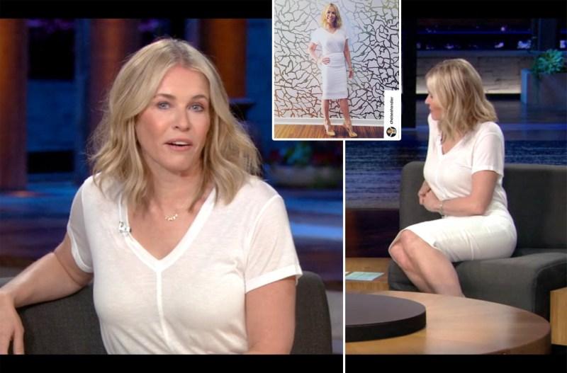 Chelsea Handler's Netflix Style: White T-Shirt Dress