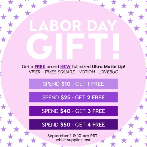 Colourpop Labor Dale Sale Free Lipstick1