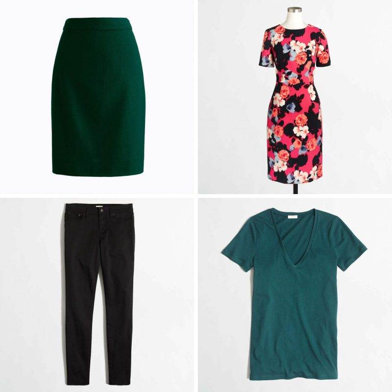 J. Crew Birthday Sale - Greens and Floral Edgy Looks