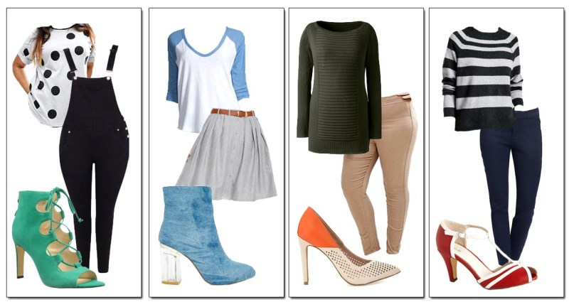 Outfits With Pop of Color Statement Shoes