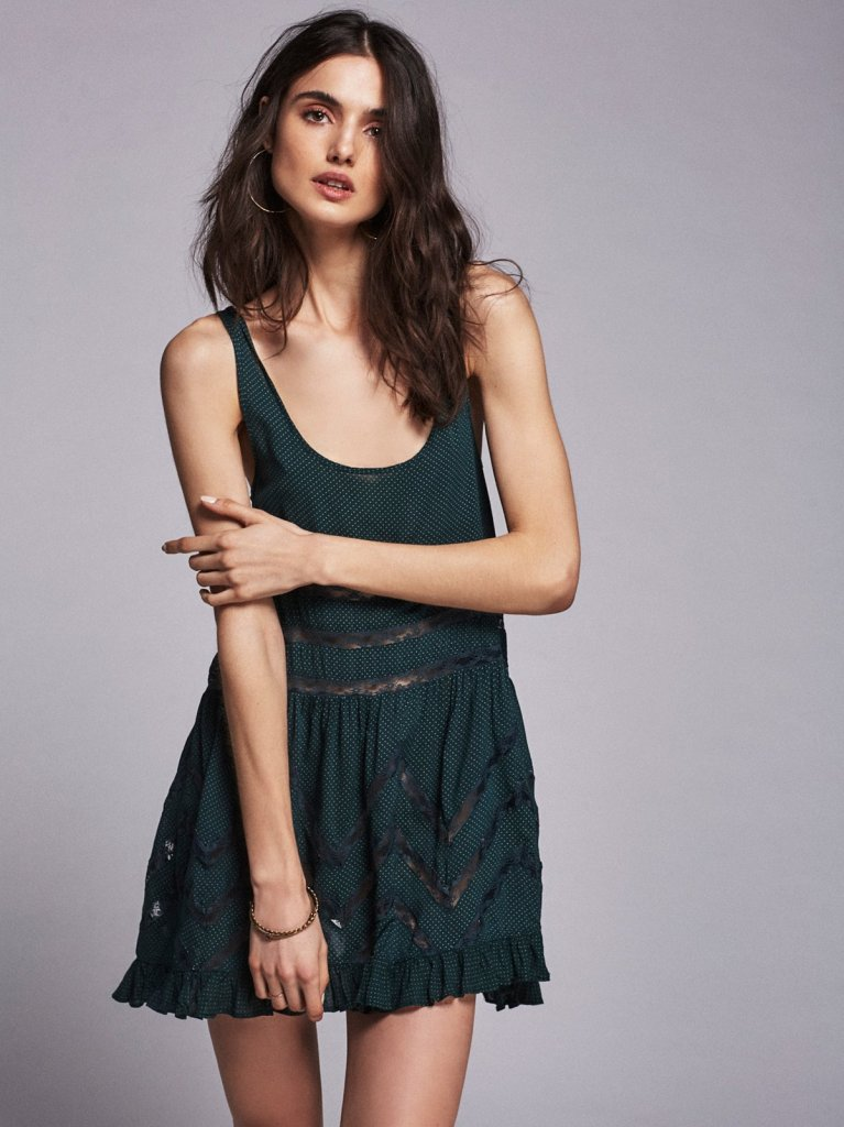 Free People Voile & Lace Trapeze Slip