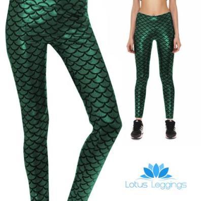 Lotus Leggings Mermaid Athletic Leggings