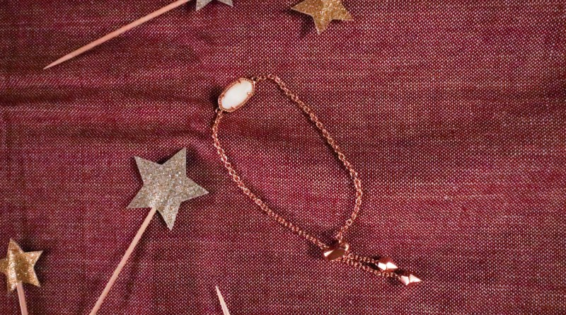 kendra scott rose gold chain adjustable bracelet with pearl