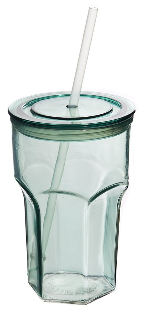 20 oz. Recycled Paneled Glass Tumbler Travel Cup for Iced Coffee